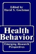 Health Behavior Emerging Research Perspectives