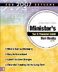 Zondervan 2008 Minister's Tax and Financial Guide For 2007 Returns