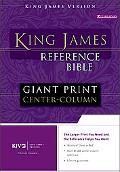King James Version Giant Print Reference Bible Burgundy/ Premium Leather Look