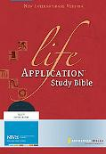 Life Application Study Bible New International Verison, Navy Bonded Leather