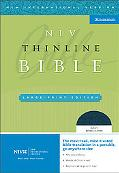 Holy Bible New International Version, Navy, Bonded Leather, Thinline, Thumb Indexed