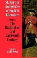 St. Martin's Anthologies of English Literature The Restoration and Eighteenth Century