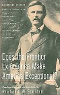 Does the Frontier Experience Make America Exceptional?