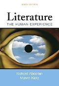 Literature the Human Experience 9e + Easy Writer 3e