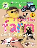 Giant Activity Books I Love the Farm