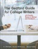 Bedford Guide for College Writers 9e 4-in-1 cloth & Re:Writing Plus
