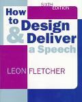 How to Design+deliver a Speech