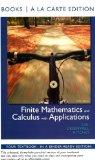 Finite Mathematics and Calculus with Applications, Books a la Carte Edition (9th Edition)