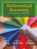Mathematical Reasoning for Elementary School Teachers with Activities