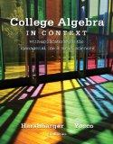 College Algebra in Context plus MyMathLab Student Access Kit
