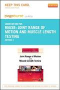 Joint Range of Motion and Muscle Length Testing - Pageburst e-Book on Kno (Retail Access Card)