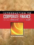 Introduction to Corporate Finance With Thomson One And Access Card