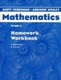 Scott Foresman-Addison Wesley Mathematics Grade 4  Homework Workbook