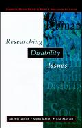 Researching Disability Issues