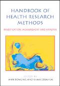 Handbook of Health Research Methods