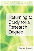 Returning to Study for a Research Degree