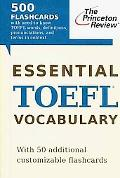 Essential TOEFL Vocabulary (flashcards) (Test Preparation)