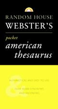 Random House Websters Pocket American Thesaurus