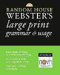 Random House Webster's Large Print Grammar & Usage