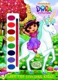 Save the Unicorn King! (Dora the Explorer) (Paint Box Book)