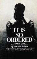 It Is so Ordered - Daniel Berman - Paperback