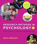 Research Methods in Psychology : Evaluating a World of Information