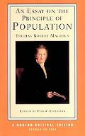 Essay on the Principle of Population Influences on Malthus Selections from Malthus' Work Nin...