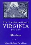 Transformation of Virginia,1740-1790