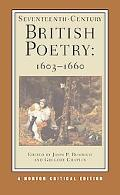 Seventeenth-Century British Poetry, 1603-1660 Authoritative Texts Criticism