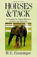 Horses and Tack - M.E. E. Ensminger - Hardcover - REV