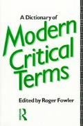 Dictionary of Modern Critical Terms