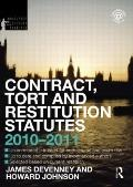 Contract Tort and Restitution Statutes 2010-2011