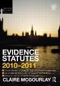 Evidence Statutes 2010-2011