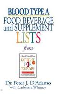 Blood Type A Food, Beverage, And Supplemental Lists