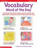 Vocabulary Word of the Day (Grades 3-6)