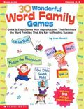 30 Wonderful Word Family Games With Pull-Out Poster Game