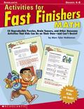 Activites for Fast Finishers Math Grades 4-8