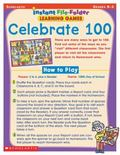 Instant File Folder Learning Games Celebrate 100