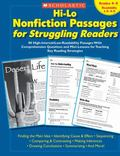 Hi-lo Nonfiction Passages for Struggling Readers Grades 4-5, Readability 1.0-4.5 80 High-int...