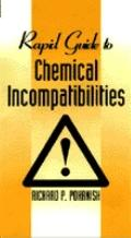 Rapid Guide to Chemical Incompatibilities