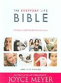 Everyday Life Bible Burgundy Bonded Leather, Gilded Gold Page Edges, Ribbon Marker, Containi...