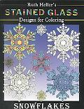 Ruth Heller's Stained Glass Designs for Coloring Snowflakes