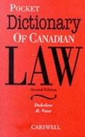 Pocket Dictionary of Canadian Law