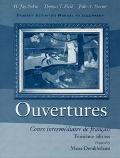 Ouvertures Cours Intermediaire De Francais  Student Activities Manual to Accompany