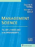 Management Science The Art of Modeling With Spreadsheets
