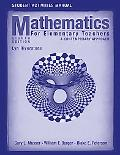Student Activities Manual to Accompany Mathematics for Elementary Teachers: A Contemporary A...