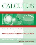 Calculus 9th Edition Multivariable Edition, Student Solutions Manual
