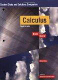 Calculus, Student Study and Solutions Companion: Single Variable (Key Curriculum Press)