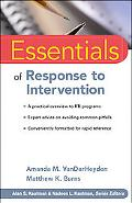 Essentials of Response to Intervention (Essentials of Psychological Assessment)