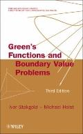 Green's Functions and Boundary Value Problems (Pure and Applied Mathematics: A Wiley Series of Texts, Monographs and Tracts)